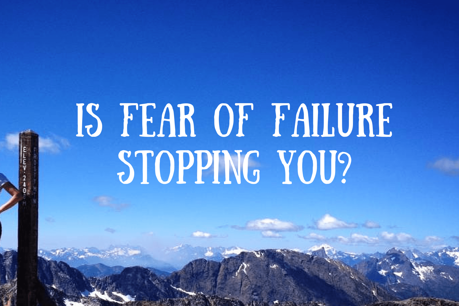 Perfectionism, Fear & Taking Action