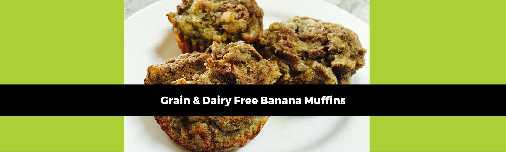Grain & Dairy Free Banana Muffins